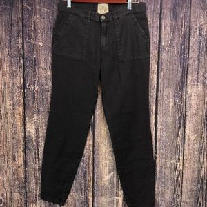 NWT CHASER brown canvas casual pants lounge large